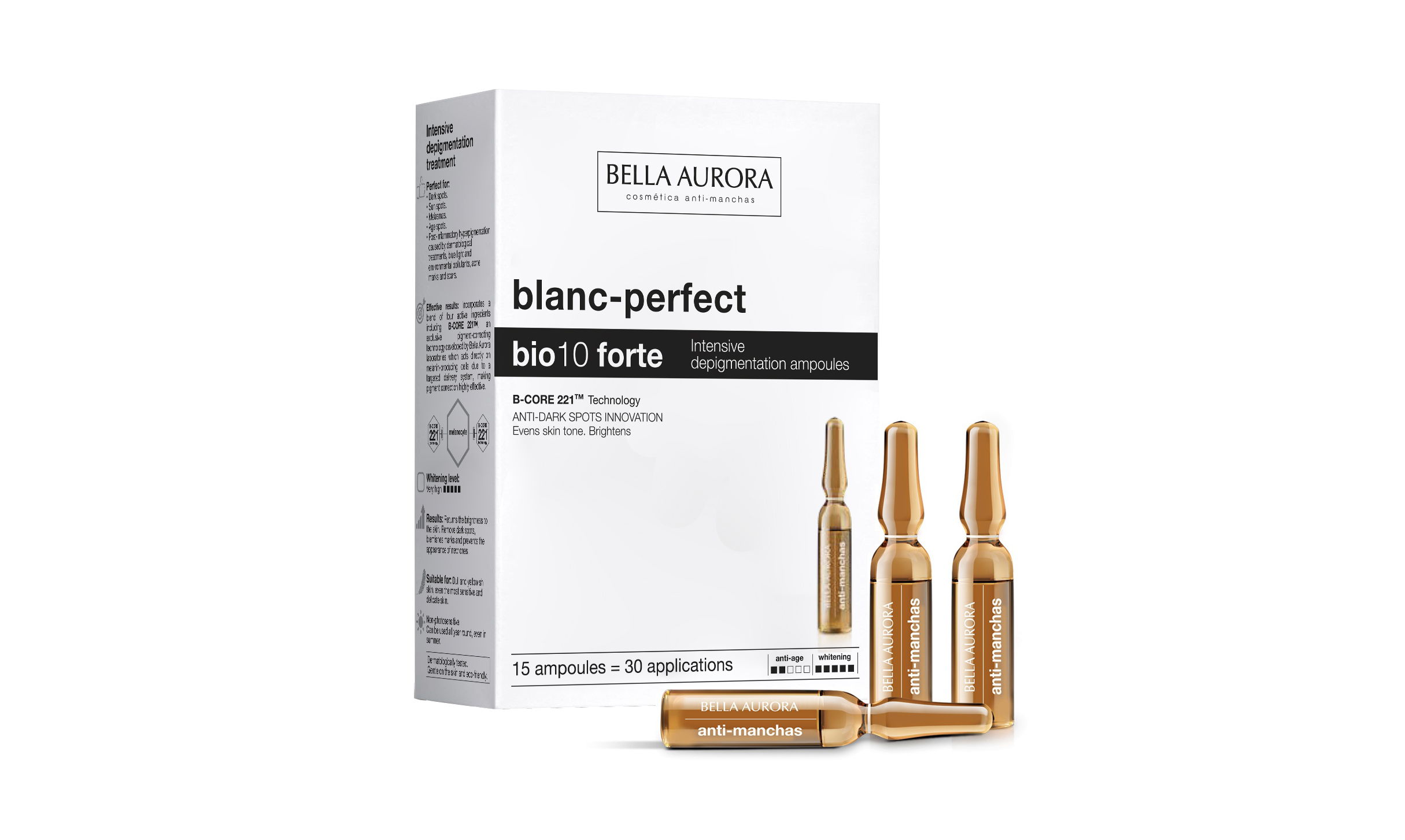 Bella Aurora harnesses cutting edge technologies to fight dark spots